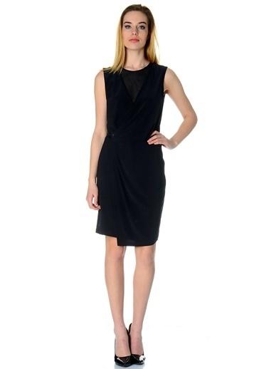 Cotton Bar Kolsuz Kısa Elbise Siyah
